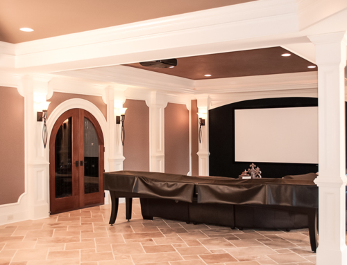 Luxury Finished Basement – Natural Stone Wine Cellar